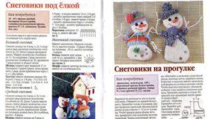 Игрушки снеговики 17