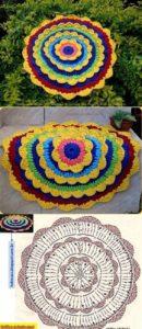 Коврик цветок 14