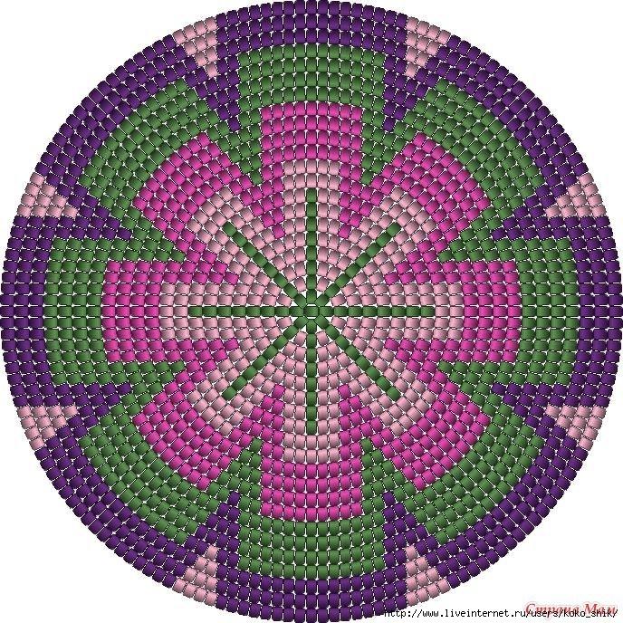 Красивый коврик крючком 12