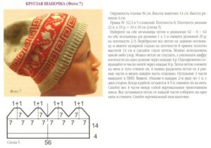 Круглая шапочка 10
