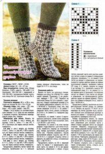 Носки с геометрическим узором