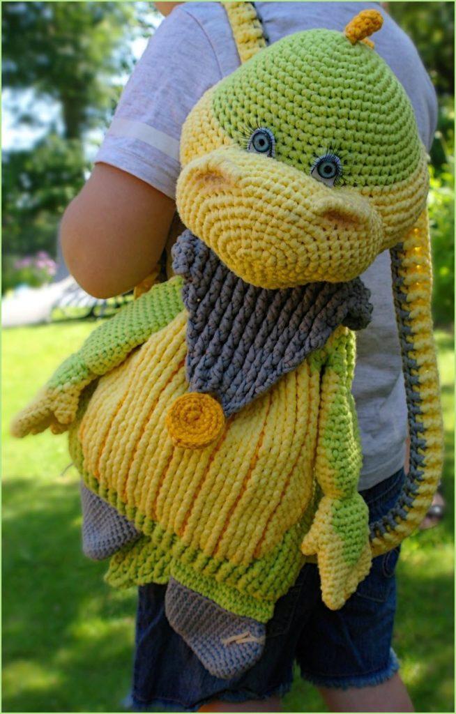 Игрушка дракон рюкзак 6