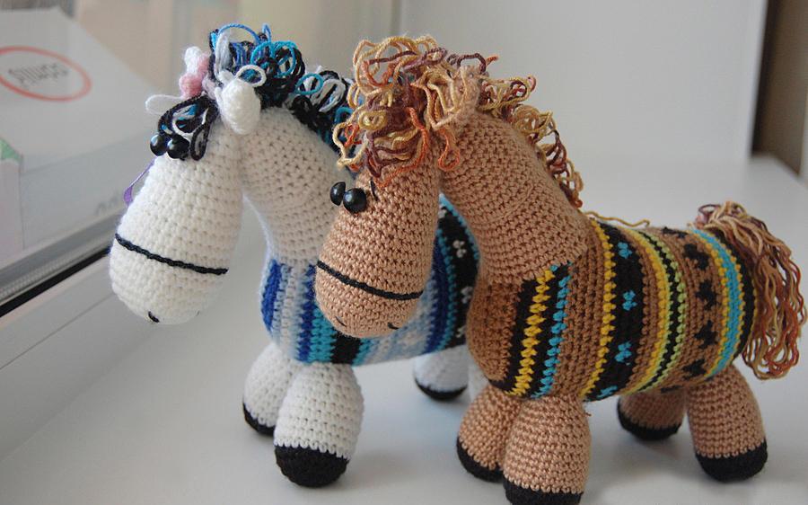 Лошадки амигуруми 7