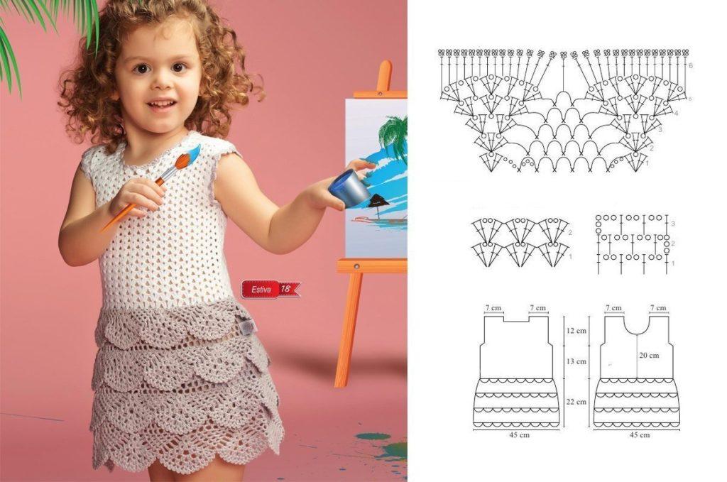 Летнее платье для девочки 11