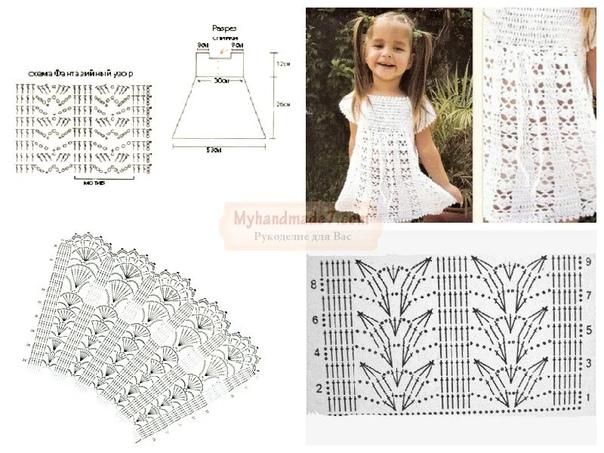 Белое платье для девочки 10