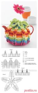 Цветная грелка на чайник